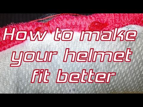 Ways to make motorcycle helmet fit better