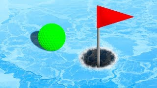EXTREME GOLF ON ICE! (Golf It)