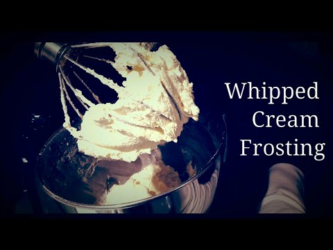 Whipped Cream Frosting Recipe ~ Easy Cake, Cupcake, Dessert Frosting