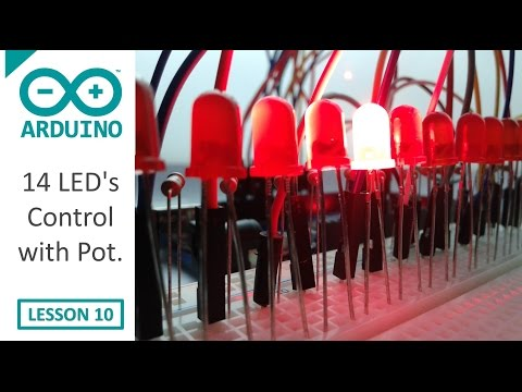 14 LED's Control Using Potentiometer - Arduino - 10