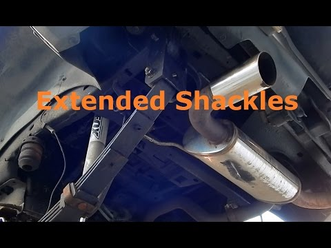 How to Install Extended Shackles on Hummer H3, Chevrolet Colorado and GMC Canyon