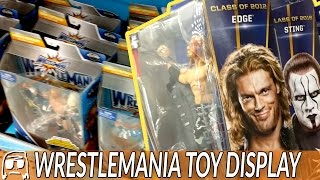 WWE Display at Walmart!! Wrestlemania, Hall of Fame exclusives & more Toy Hunt & Haul!!