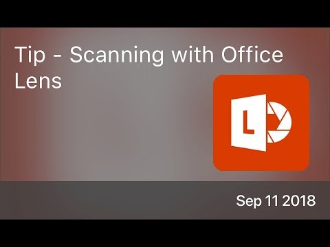SCOM0768 - Tip - Scanning with Office Lens