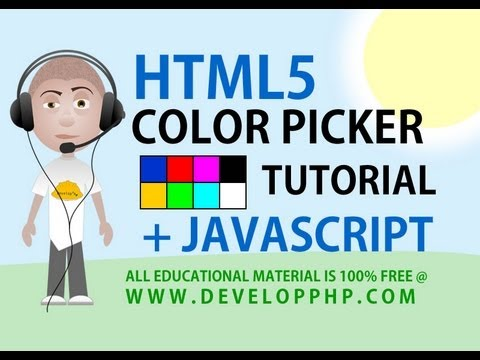 html 5 tutorial Color Picker Input With Javascript Ajax Form Processing Tips