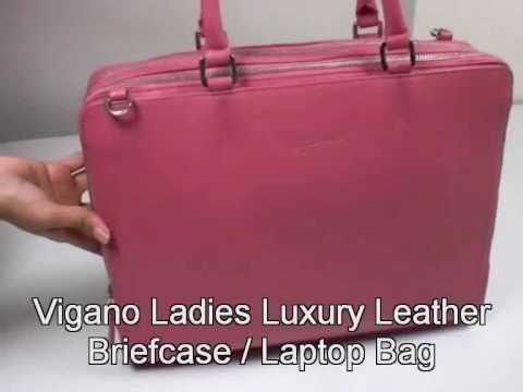 Vigano Ladies Luxury Leather Briefcase / Laptop Bag www.vigano.co.uk
