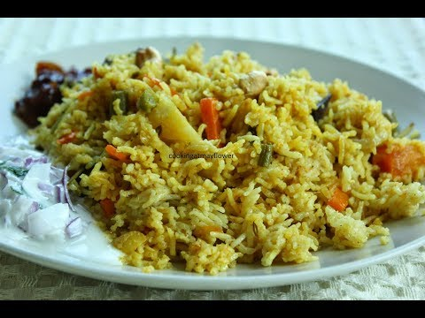 Vegetable Pulao Recipe l Pressure Cooker Vegetable Pulao l pulao in malayalam