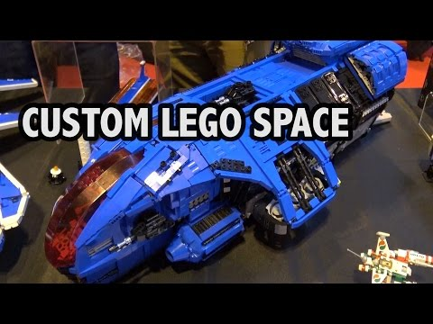Giant Custom LEGO Spaceships | M-Tron Space Police Ice Planet