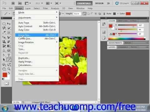 Photoshop CS5 Tutorial Image Size & Resolution Settings Adobe Training Lesson 3.3
