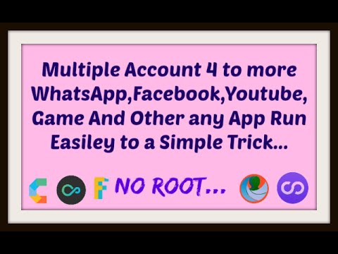 How to Run multiple account|whatsapp|Facebook|4 to 8 in a phone easy
