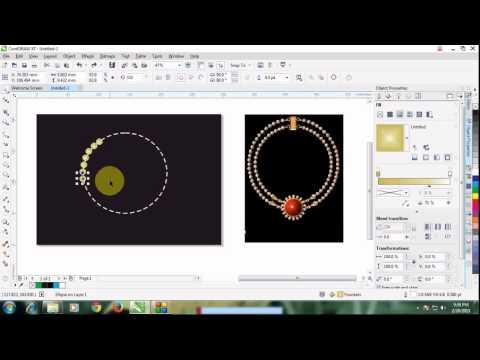 jewellery design using coreldraw