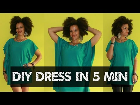 How-To | Easy DIY Dress (Top) in 5min | DIY Clothes