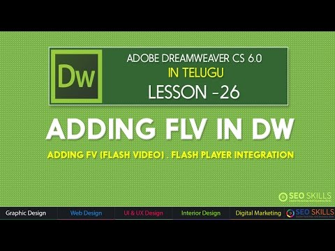 How to add flash video(.flv) in Dreamweaver CS 6.0