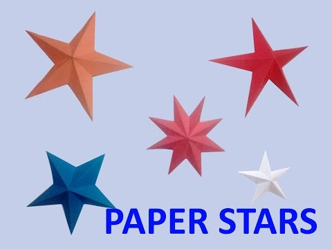How To Make A 3D Paper Stars