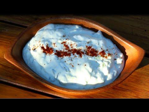 Tzatziki Sauce - Greek Garlic Yogurt Sauce - How to Make Tzatziki