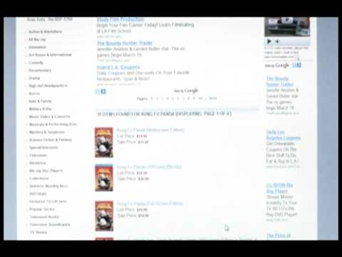 Want to own a video store selling blu-ray, DVD movies and make money online Kung Fu Panda