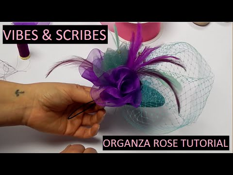 Millinery Tip: How to Make an Organza Rosette