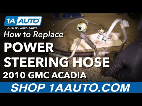 How to Install Replace Power Steering Pressure Hose Line 2010 GMC Acadia