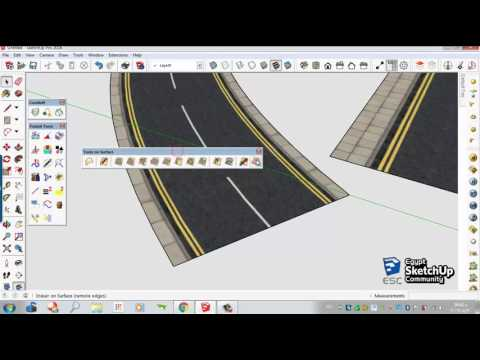 Curved road texture | SketchUp