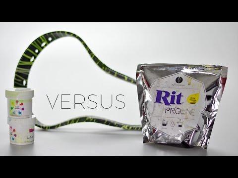 Lax Dip Versus Rit Dye - Lacrosse Dye Challange