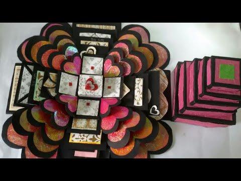 explosion Box Tutorial / Valentine gift / anniversary gift