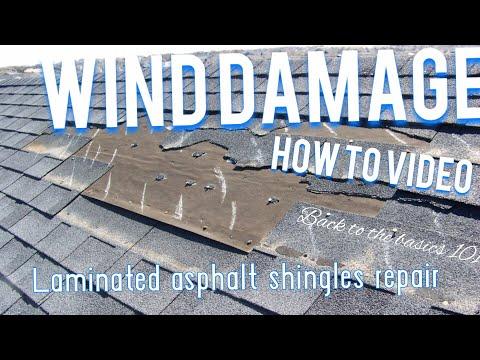 Laminated shingle repair
