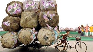 Must Watch Funny Comedy Video गरिब रिक्शा वाला पैसे Garib Rickshaw Wala Money Hindi Kahani