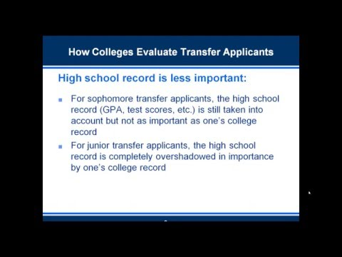 Three Tips for College Transfer Applicants