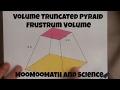 Volume of a Truncated Pyramid (Frustrum volume)-MooMooMath