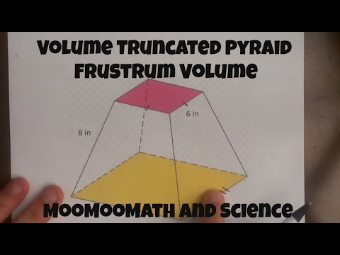 Volume of a Truncated Pyramid (Frustrum volume)-MooMooMath
