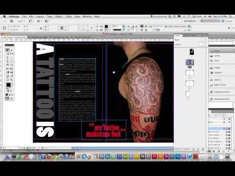 A5 Zine 8 page Overview in Indesign