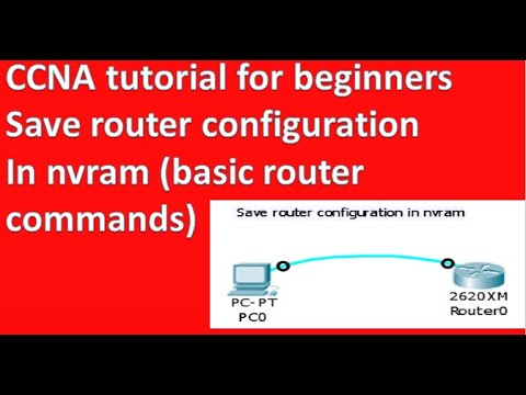 how to save router configuration in nvram