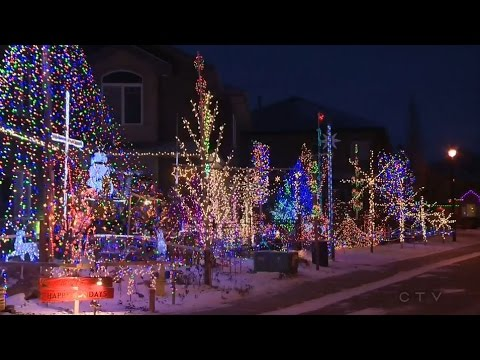 Holy holiday lights! Edmonton home decked for Christmas