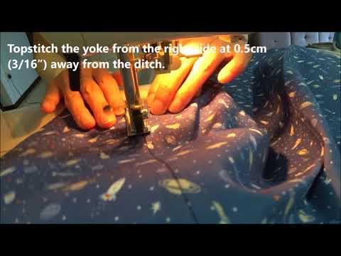 Sewing Shirt Yoke: Burrito Method