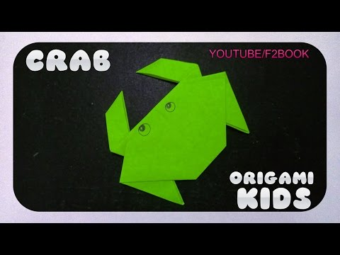 Origami Animals ✿ Folding Instructions ✿ Easy Origami Crab ✿ F2BOOK Video 168