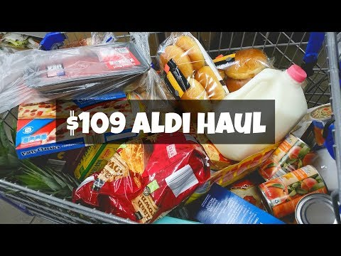 Aldi Haul ~ $109 Grocery Haul ~ Weekly Grocery Shopping Haul ~ Amy Learns to Cook