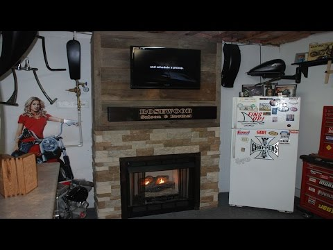 Build a Fireplace Surround with Reclaimed Barnwood