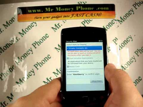 HARD RESET your Blackberry Torch 9800 (RESTORE to FACTORY condition)