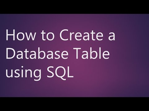 Learn What is Database Table? How to Create a Database Table using SQL?