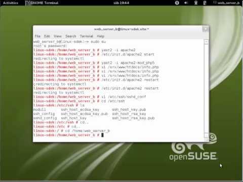 servidor web y ssh opensuse