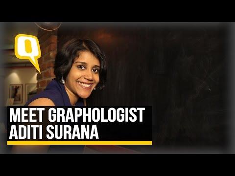 The Quint: Watch Graphologist Aditi Surana Analyse Handwriting!