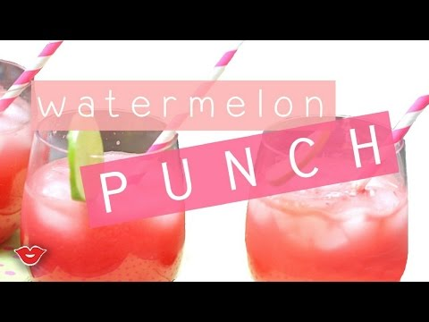 Easy Summer Watermelon Punch! | Stephanie from Millennial Moms