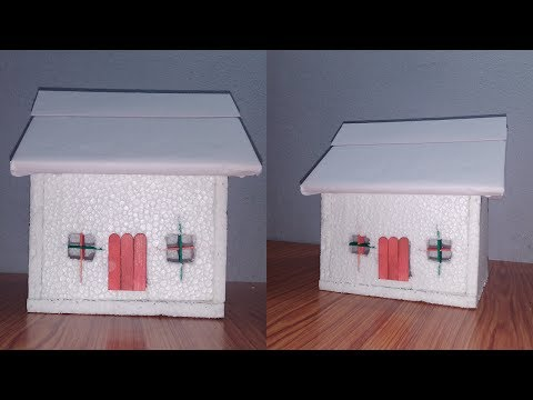 How to Make a Small Thermocol House   Model   School Project for Kids (DIY)