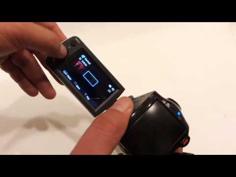 Amateur Boring Vid:  Deleting Video on HMX-F90 Video Camera