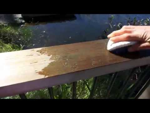 Clean a cedar deck with just water - treated with Seal-Once