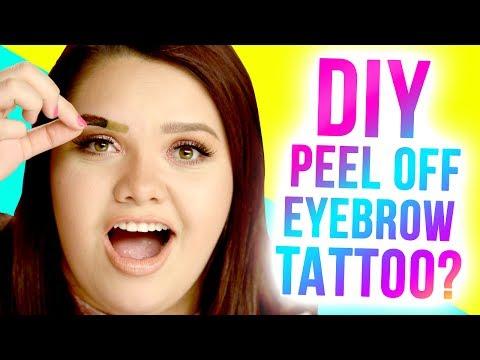 DIY PEEL-OFF Eyebrow Tattoos?! Makeup Mythbusters w/ Karina Garcia & MayraTouchOfGlam