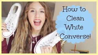 Easy Life Hack How To Clean White Converse