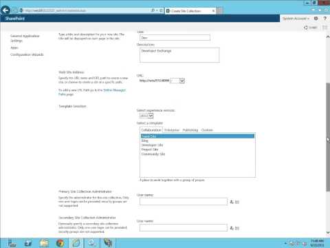 01 How to Create Web Application and Site Collection in SharePoint 2013