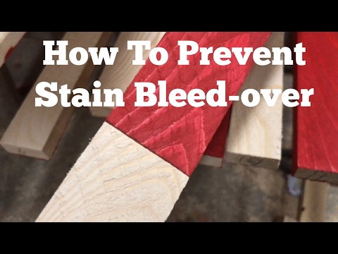 Rustic American Stained Flag / How To Prevent Bleed-over