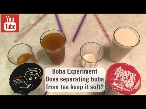 Boba Experiment - Separating Boba from Tea for Softness Longevity?