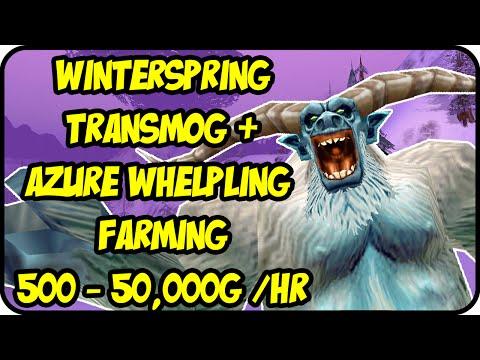 WoW Gold Farming Patch 6.2.4: Winterspring Transmog Gold Making - Azure Whelpling Farming - WoD Gold